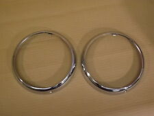 CLASSIC MINI CHROME OUTER HEADLAMP RINGS  HR-1