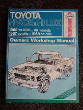 Toyota HI-ACE y Hi-Lux Haynes Manual de gastos de envío gratis