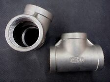 "STAINLESS STEEL TEE 1"" NPT PIPE FITTING"