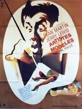 """ARTISTES ET MODELES (ARTISTS & MODELS)"" Affiche ressortie (Jerry LEWIS)"