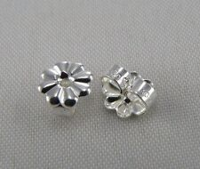 2 NEW Tiffany &Co Sterling Silver Push Back Push on Earring Backs Butterfly