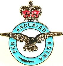 RAF ROYAL AIR FORCE CLASSIC HAND MADE IN UK PLATED LAPEL PIN BADGE