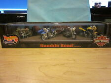 Hot Wheels Harley Davidson Rumble Road Motorcycle Set of 4 Bikes
