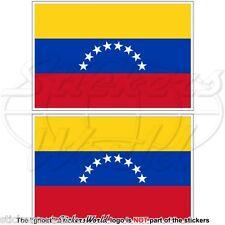 VENEZUELA Civil Flag (8 star, Hugo Chavez) Venezuelan 100mm Stickers, Decals x2