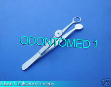 """HUNT CHALAZION FORCEPS ROUND 12 MM I.D 3.75"""" OPHTHALMIC SURGICAL INSTRUMENTS"""