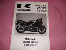 KAWASAKI '93-'04 NINJA ZX-6 SERVICE MANUAL SUPPLEMENT P/N 99924-1161-61