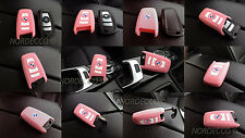 HIGH QUALITY SILICONE KEYLESS SMART 3 4 KEY FOB PROTECTOR CASE BMW M  (PINK)
