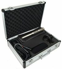 Cascade X-15 Stereo Short Ribbon Microphone, Mic w/Aluminum Case, Shock, New!