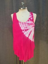 Erge Girls Pink & White Tie Dye Sleeveless Tank Top Size Small (6/7)