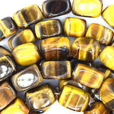 "16mm tiger eye nugget beads 15.5"" strand"