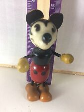 "3-4"" MICKEY MOUSE FLEX-E-FUN WALT DISNEY WOOD & COMPOSITION DOLL J"