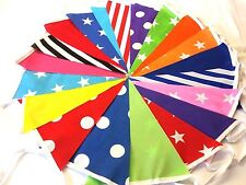 20ft/6m Circus Bunting shabby Chic Handmade Festival Campeggio 20 Carn.
