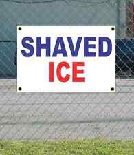 2x3 SHAVED ICE Red White & Blue Banner Sign NEW Discount Size & Price