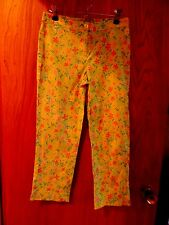 "Vintage Lilly Pulitzer Pink & Green Floral with ""Hidden Lions"" Pants Size 2 MINT"