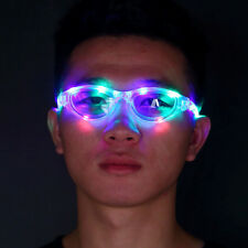 NEW RAVE LIGHT GLOW PARTY CLUB LED SUNGLASSES GLASSES SPARKLE 10 LED FE