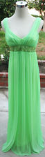 City Triangles $100 Green Yellow Lime Prom Party Gown M