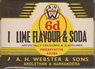 (LOA5) 1950-60 AU Webster's lime Flavour and soda