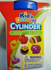Kids Play Dough Cylinder with Elephant Mould Red & Yellow Dough, Press, Stencils