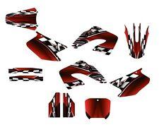 CR 125 250 Graphics CR125R CR250R deco kit for 2000 2001 Honda Bike #2500 Red