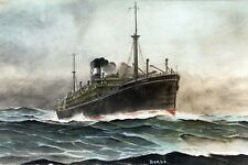 BORDA P & O Line circa 1914-16 Art Postcard Digital Modern