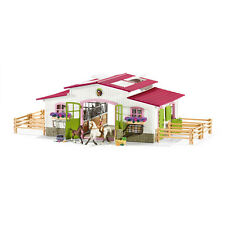 Schleich 42344 Riding Centre With Rider And Horses (Horses) Plastic Figure