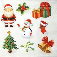 4 papel de un solo partido de Almuerzo Servilletas Para Decoupage Decopatch Trabajo Navidad signos