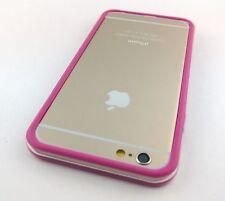 """HOT PINK CLEAR HARD TPU GEL PC HYBRID BUMPER CASE COVER APPLE IPHONE 6 6S 4.7"""""""