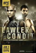 UFC 195 Official Full-Sized Event Poster ROBBIE LAWLER Condit Las Vegas 1/2/2016
