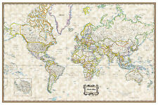 "2016 World Classic Executive Wall Map Poster - 36""x24"" Rolled Laminated"