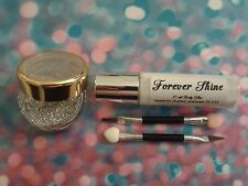 Silver Lip & eye glitter make up set inc. glitter, brush and body glue