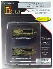 Pegasus 720 x  1/144 SdKfz 251/1 Halftrack #111/112 (Camouflage) (Assembled)