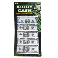 100PC PLAY MONEY Kids Toy Kiddy Cash Paper Dollar Bills Fake Bank Games Gift