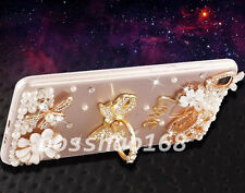 Bling Clear handmade Diamonds Crystal TPU Soft Back Case Cover Skin For Apple