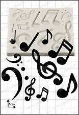 Silicone mould Musical Notes | Food Use FPC Sugarcraft FREE UK shipping!
