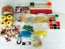 HUGE Lot Plastic Beads Jewelry Making Supplies Thread Storage 12 lbs TEEN GIFT