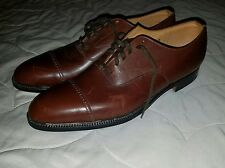 CHURCH'S Custom Grade [12] 110 B 84 brown cap toe dress shoes