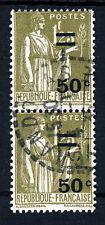 "FRANCIA 1934 1fr.25c. Marrone ""PACE"" FRANCOBOLLO 50c. un paio SG 524 VFU"