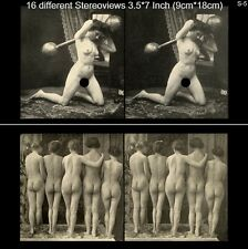 16 Akt - Stereofotos klassik Nude, Paris 1910, Lot 5, Stereoviews France