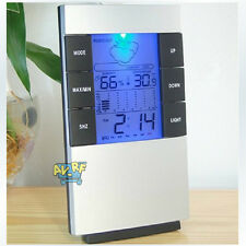 Home Large LED Backlight Digital Calendar Thermometer Hygrometer Alarm Clock New