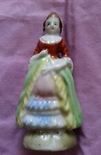 VTG HAND PAINTED MADE IN JAPAN CERAMIC PORCELAIN VICTORIAN DRESS WOMAN FIGURINE