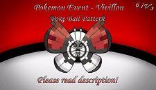 Pokemon Vivillon Poke Ball Pattern Event 6 IV + Item