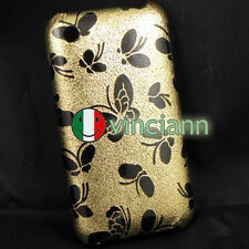 Custodia back cover rigida iPhone 3G S FARFALLE ORO 3G