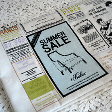 Retro Craft Fabric - Vintage Newspaper Classfields News Print 80cm Wide x 145cm