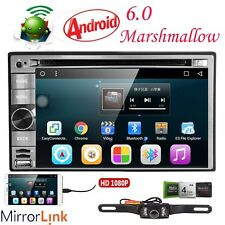 """GPS Navi Android 6.0 3G WIFI 6.2""""Double 2 DIN Car Radio Stereo DVD Player+Camera"""