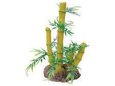 Bamboo Plant with Rock Base Reptile Terrarium Vivarium Ornament Decoration