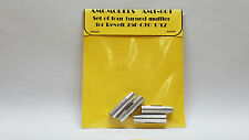 FERRARI 250 GTO - SET OF FOUR TURNED MUFFLER FOR REVELL 1/12 AMG AMT-001 N/ MFH