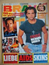 BRAVO 52- 17.12. 1991 (3) R.Grieco U2-Van Damme-Poster Charlie Sheen Queen ARNI