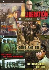 GREAT COLLECTION RUSSIAN WORLD WAR II MOVIE ENGLISH ,RUSSIAN  5MOVIES (8DVDs)