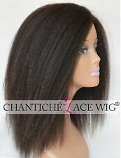 Chantiche Indian Remy Human Hair Italian Yaki None Lace Full Machine Made Wig...