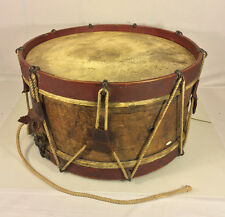Antique Wood Body Drum with Leather & Rope One Head Side Broken No Makers Mark